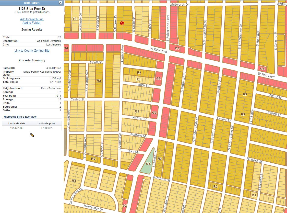 LA zoning map and property reports