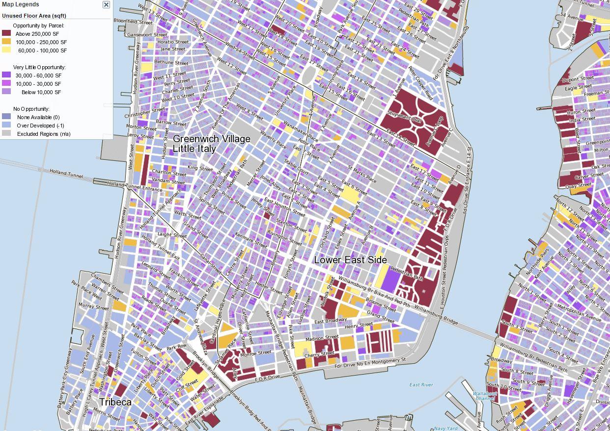 NYC air rights map