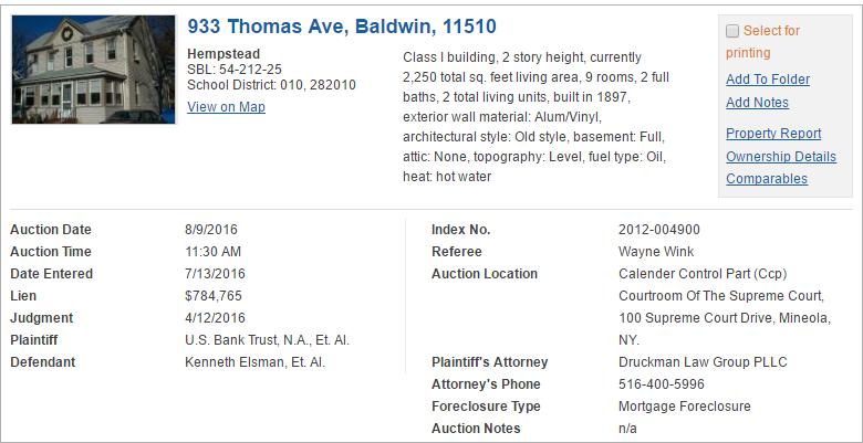 Nassau County, NY foreclosure