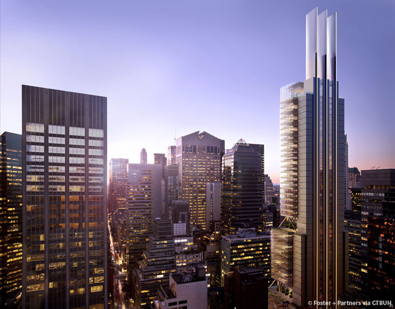 rendering of 425 Park Avenue facing the Sony building