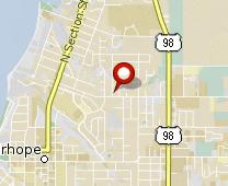 Parcel map for 402 Myrtle Avenue, Fairhope, AL 36532.