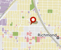 Parcel map for 1025 Barrett Avenue, Richmond, CA 94801.