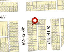 Parcel map for 4727 4 St NW, Washington, DC 20011.