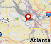 Property map for 1079 Marietta Blvd NW, Atlanta, GA 30318.
