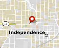 Parcel map for 300 North Pleasant Street, Independence, MO 64050.