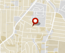 Parcel map for 723 West Terrell Street, Greensboro, NC 27406.