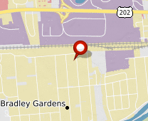 Parcel map for 182 Linden Street, Bridgewater, NJ 08807.
