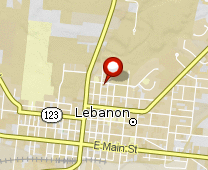 Parcel map for 320 North Mechanic Street, Lebanon, OH 45036.